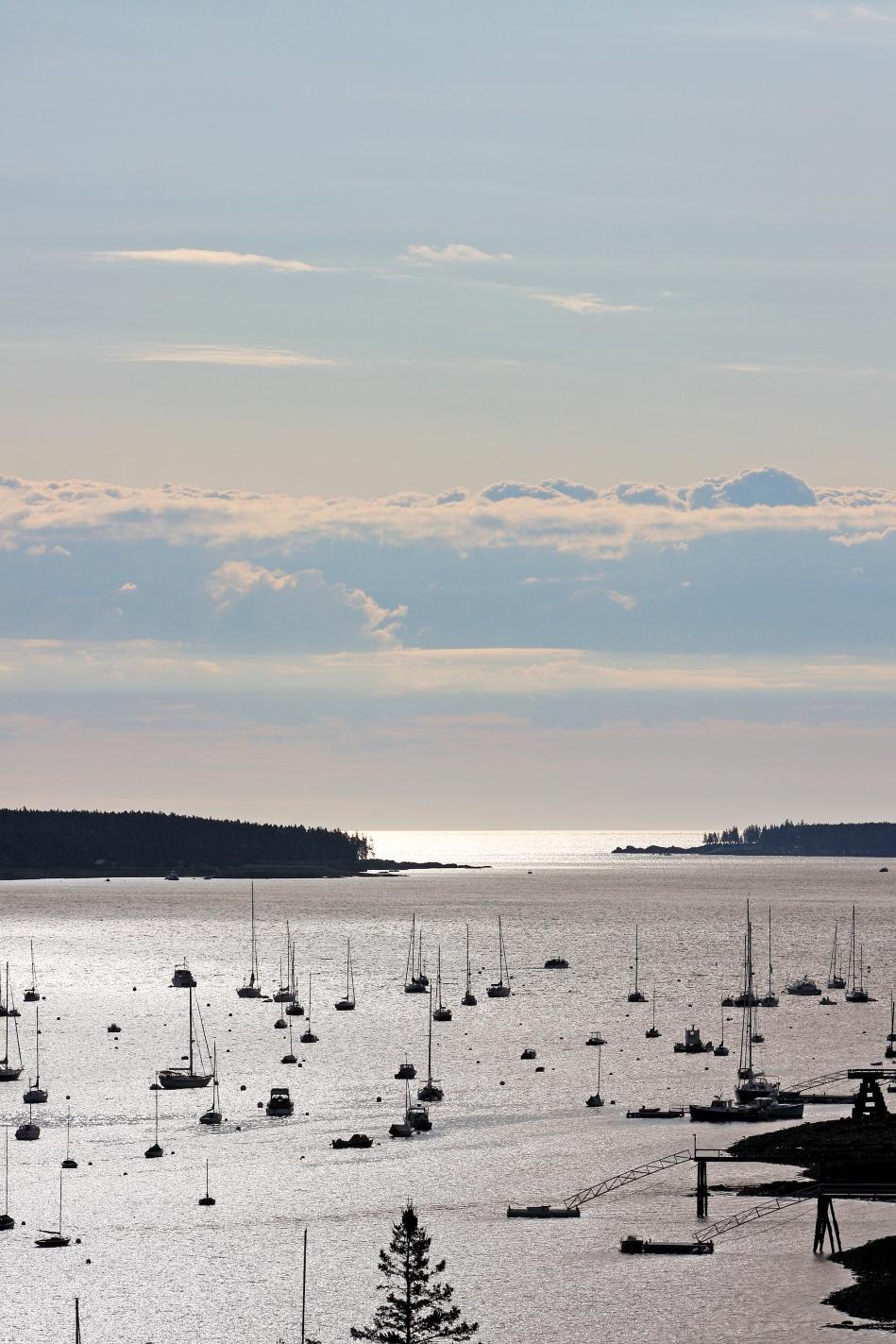 morning light in southwest harbor maine