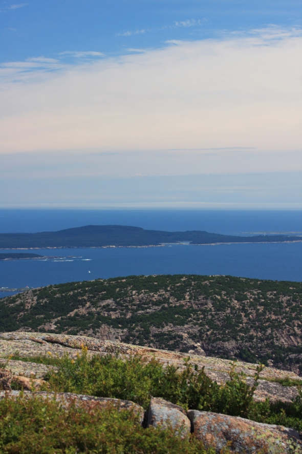 the view from Cadillac Mountain, Acadia National Park