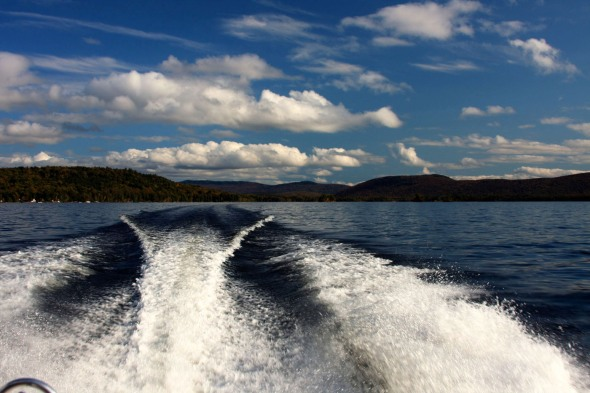Leaving Beaver Cove, Moosehead Lake