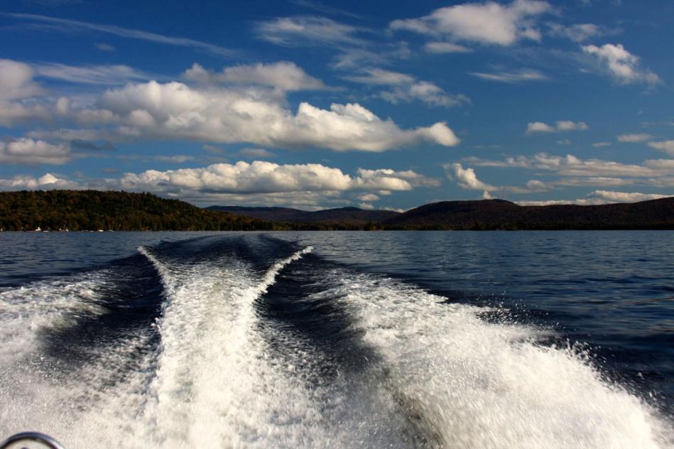Leaving Beaver Cove, Moosehead Lake