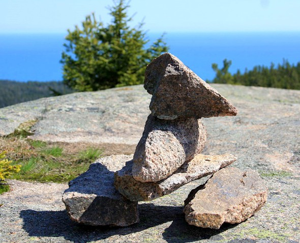 Cairn in Acadia National Park, Maine