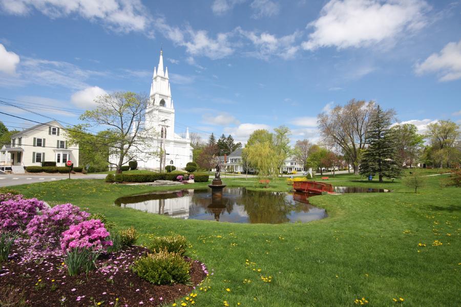 Beautiful Library Park In Bath Maine Through My Lens